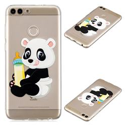 Baby Panda Super Clear Soft TPU Back Cover for Huawei P Smart(Enjoy 7S)