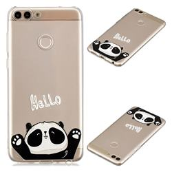 Hello Panda Super Clear Soft TPU Back Cover for Huawei P Smart(Enjoy 7S)