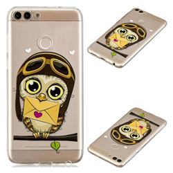 Envelope Owl Super Clear Soft TPU Back Cover for Huawei P Smart(Enjoy 7S)