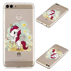 Cloud Star Unicorn Super Clear Soft TPU Back Cover for Huawei P Smart(Enjoy 7S)