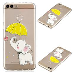 Umbrella Elephant Super Clear Soft TPU Back Cover for Huawei P Smart(Enjoy 7S)
