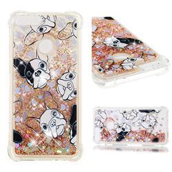 Bulldog Dynamic Liquid Glitter Sand Quicksand Star TPU Case for Huawei P Smart(Enjoy 7S)