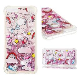 Angel Pony Dynamic Liquid Glitter Sand Quicksand Star TPU Case for Huawei P Smart(Enjoy 7S)