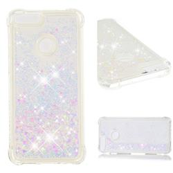Dynamic Liquid Glitter Sand Quicksand Star TPU Case for Huawei P Smart(Enjoy 7S) - Pink