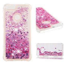 Dynamic Liquid Glitter Sand Quicksand Star TPU Case for Huawei P Smart(Enjoy 7S) - Diamond Rose