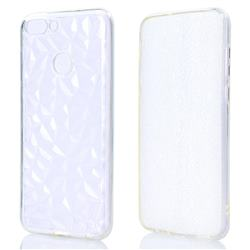 Diamond Pattern Shining Soft TPU Phone Back Cover for Huawei P Smart(Enjoy 7S) - Transparent