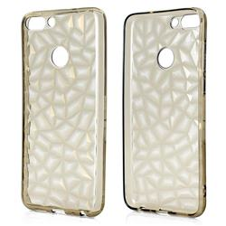 Diamond Pattern Shining Soft TPU Phone Back Cover for Huawei P Smart(Enjoy 7S) - Gray