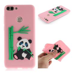 Panda Eating Bamboo Soft 3D Silicone Case for Huawei P Smart(Enjoy 7S) - Pink