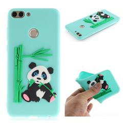 Panda Eating Bamboo Soft 3D Silicone Case for Huawei P Smart(Enjoy 7S) - Green