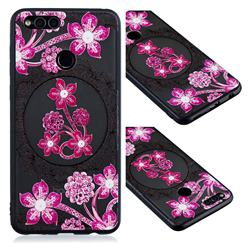 Daffodil Lace Diamond Flower Soft TPU Back Cover for Huawei P Smart(Enjoy 7S)