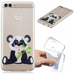 Bamboo Panda Clear Varnish Soft Phone Back Cover for Huawei P Smart(Enjoy 7S)