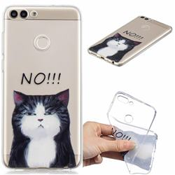 Cat Say No Clear Varnish Soft Phone Back Cover for Huawei P Smart(Enjoy 7S)