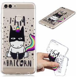 Batman Clear Varnish Soft Phone Back Cover for Huawei P Smart(Enjoy 7S)