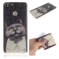 Cat Embrace IMD Soft TPU Cell Phone Back Cover for Huawei P Smart(Enjoy 7S)