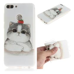Cute Tomato Cat IMD Soft TPU Cell Phone Back Cover for Huawei P Smart(Enjoy 7S)