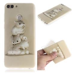 Three Squirrels IMD Soft TPU Cell Phone Back Cover for Huawei P Smart(Enjoy 7S)