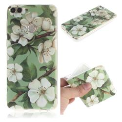Watercolor Flower IMD Soft TPU Cell Phone Back Cover for Huawei P Smart(Enjoy 7S)
