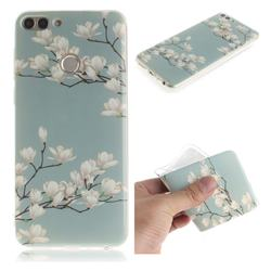 Magnolia Flower IMD Soft TPU Cell Phone Back Cover for Huawei P Smart(Enjoy 7S)