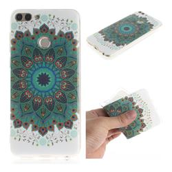 Peacock Mandala IMD Soft TPU Cell Phone Back Cover for Huawei P Smart(Enjoy 7S)