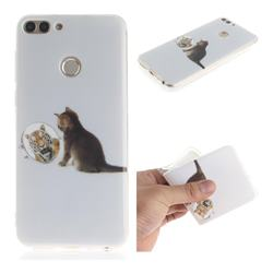 Cat and Tiger IMD Soft TPU Cell Phone Back Cover for Huawei P Smart(Enjoy 7S)