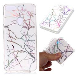 Color White Marble Pattern Bright Color Laser Soft TPU Case for Huawei P Smart(Enjoy 7S)