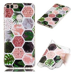 Rainforest Soft TPU Marble Pattern Phone Case for Huawei P Smart(Enjoy 7S)
