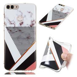 Pinstripe Soft TPU Marble Pattern Phone Case for Huawei P Smart(Enjoy 7S)