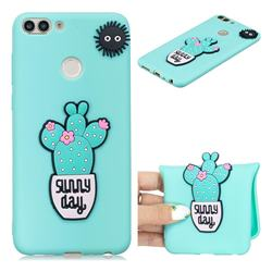 Cactus Flower Soft 3D Silicone Case for Huawei P Smart(Enjoy 7S)
