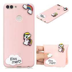 Kiss me Pony Soft 3D Silicone Case for Huawei P Smart(Enjoy 7S)