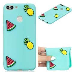 Watermelon Pineapple Soft 3D Silicone Case for Huawei P Smart(Enjoy 7S)