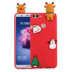 Red Elk Christmas Xmax Soft 3D Silicone Case for Huawei P Smart(Enjoy 7S)