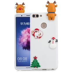 White Elk Christmas Xmax Soft 3D Silicone Case for Huawei P Smart(Enjoy 7S)