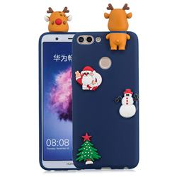 Navy Elk Christmas Xmax Soft 3D Silicone Case for Huawei P Smart(Enjoy 7S)