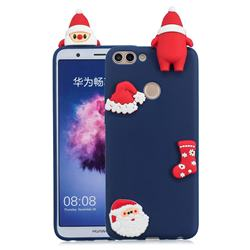 Navy Santa Claus Christmas Xmax Soft 3D Silicone Case for Huawei P Smart(Enjoy 7S)