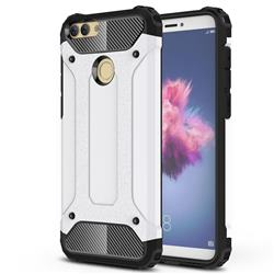 King Kong Armor Premium Shockproof Dual Layer Rugged Hard Cover for Huawei P Smart(Enjoy 7S) - White