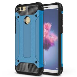 King Kong Armor Premium Shockproof Dual Layer Rugged Hard Cover for Huawei P Smart(Enjoy 7S) - Sky Blue
