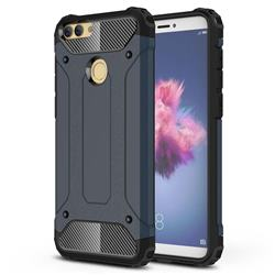 King Kong Armor Premium Shockproof Dual Layer Rugged Hard Cover for Huawei P Smart(Enjoy 7S) - Navy