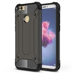 King Kong Armor Premium Shockproof Dual Layer Rugged Hard Cover for Huawei P Smart(Enjoy 7S) - Bronze