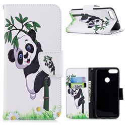 Bamboo Panda Leather Wallet Case for Huawei P Smart(Enjoy 7S)