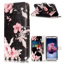 Azalea Flower PU Leather Wallet Case for Huawei P Smart(Enjoy 7S)