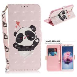 Heart Cat 3D Painted Leather Wallet Phone Case for Huawei P Smart(Enjoy 7S)