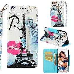 Lip Tower Big Metal Buckle PU Leather Wallet Phone Case for Huawei P Smart(Enjoy 7S)