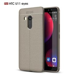 Luxury Auto Focus Litchi Texture Silicone TPU Back Cover for HTC U11 Eyes - Gray