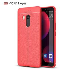 Luxury Auto Focus Litchi Texture Silicone TPU Back Cover for HTC U11 Eyes - Red
