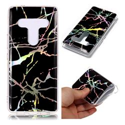 Plating Black Marble Pattern Bright Color Laser Soft TPU Case for HTC U12+