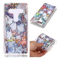 Gold Plating Marble Pattern Bright Color Laser Soft TPU Case for HTC U12+