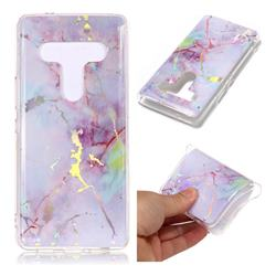 Pink Purple Marble Pattern Bright Color Laser Soft TPU Case for HTC U12+