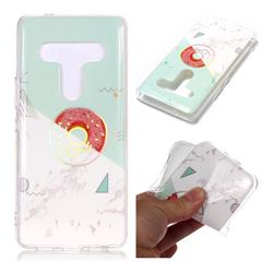 Donuts Marble Pattern Bright Color Laser Soft TPU Case for HTC U12+