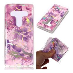 Purple Marble Pattern Bright Color Laser Soft TPU Case for HTC U12+