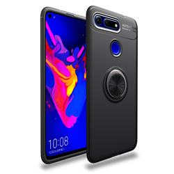 Auto Focus Invisible Ring Holder Soft Phone Case for Huawei Honor View 20 / V20 - Black
